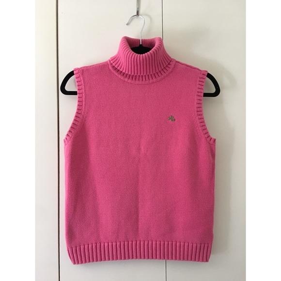 4e84bc786abdb Lauren Ralph Lauren Sweaters - Ralph Lauren pink turtleneck sweater